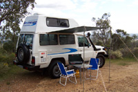 BR_Bushcamper 4WD HiTop with camping gear